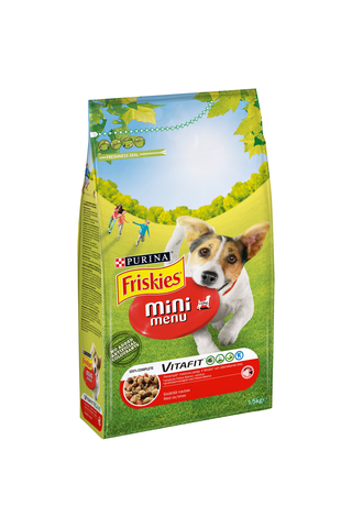 Friskies 1,5kg Mini Menu Nautaa koiranruoka