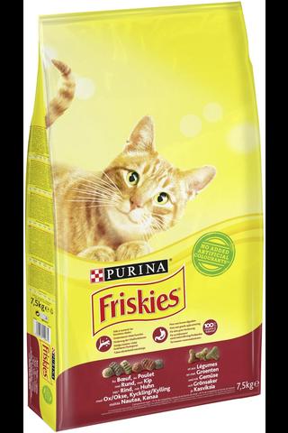 Friskies 7,5kg Adult Nautaa, Kanaa ja Kasviksia kissanruoka