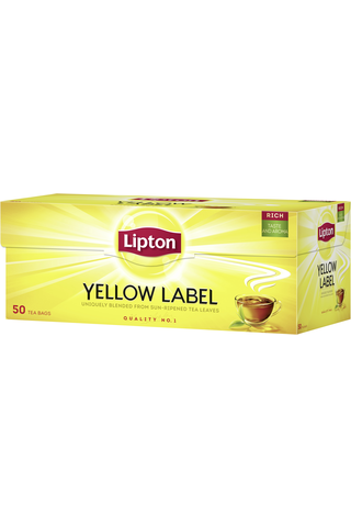 Lipton 50ps Yellow Label musta tee