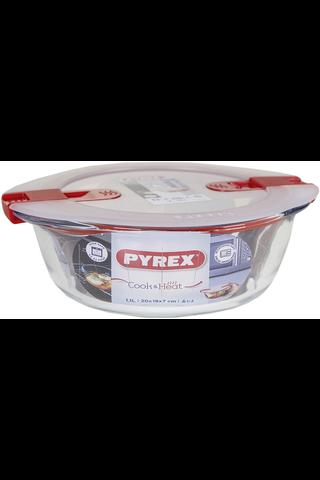 Pyrex Cook & Heat vuoka 1l kannella 18cm