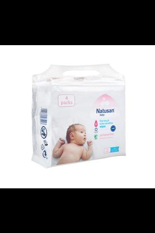 Natusan Baby 224 kpl First Touch Extra Sensitive 4-pack puhdistuspyyhkeet