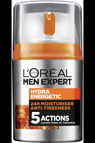 L'Oréal Paris Men Expert 50ml Hydra Energetic kasvovoide väsymyksen merkkejä vastaan