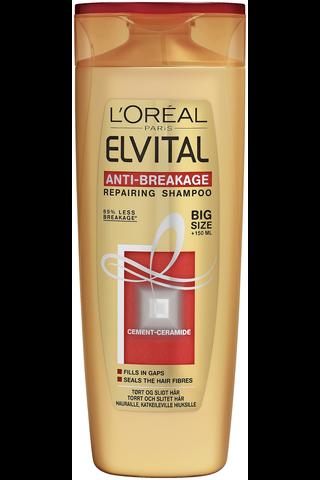 L'Oréal Paris Elvital 400 ml Anti-Breakage shampoo vaurioituneille ja rasittuneille hiuksille