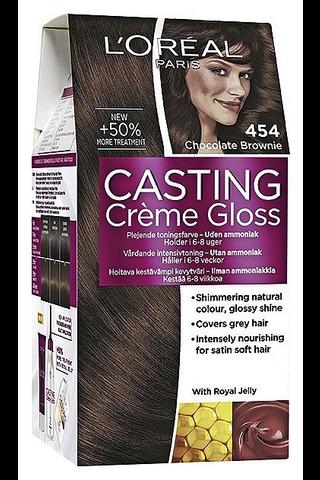 L'Oréal Paris Casting Crème Gloss 454 Chocolate Brownie kuparinen mahonginruskea kevytväri