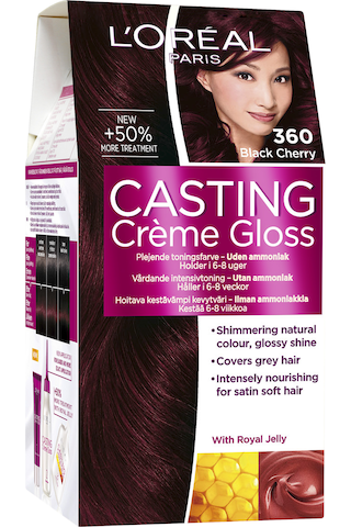 L'Oréal Paris Casting Crème Gloss 360 Black Cherry tumma mahonginruskea kevytväri