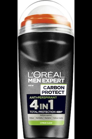 L'Oreal Paris Men Expert Deodorant Carbon Protect Citrus Clear 50ml roll-on antiperspirantti