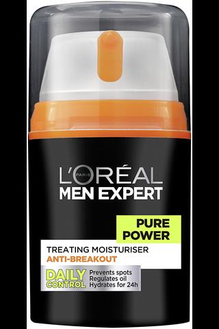 L'Oréal Paris Men Expert Pure Power Kosteusvoide epäpuhtauksia vastaan 50ml