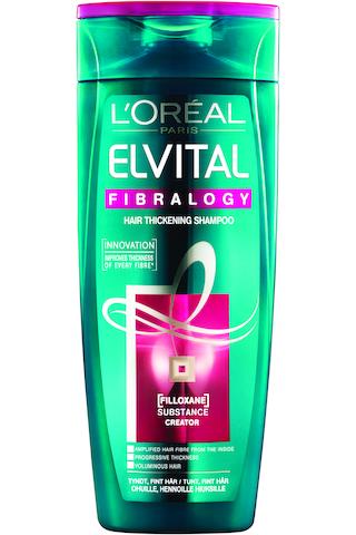 L'Oréal Paris Elvital 250ml Fibralogy shampoo ohuille ja hennoille hiuksille