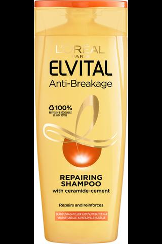 6 x L'Oréal Paris Elvital Anti-Breakage shampoo kuiville ja katkeileville hiuksille 250ml