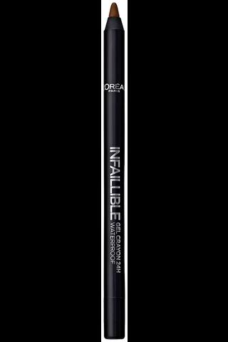 L'Oréal Paris Infaillible Gel Crayon 03 Browny Crush -silmänrajauskynä