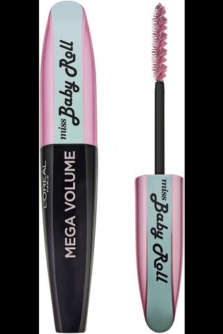 L'Oréal Paris Mega Volume Miss Baby Roll black -maskara