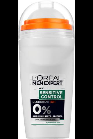 L'OréalParisMenExpertDeo 50ml Sensitive Control roll-on deodorantti