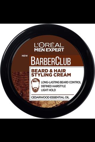 L'OréalParisMenExpertBarber Club 75ml Beard & Hair Styling Cream parran ja hiustenmuotoiluvoide
