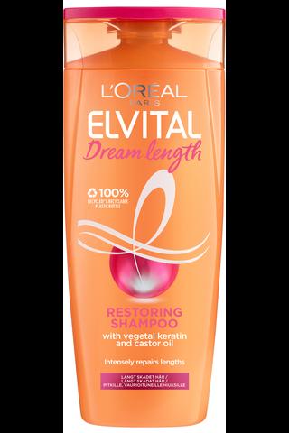 L'Oréal Paris Elvital 250ml Dream Length Restoring shampoo pitkille, vaurioituneille hiuksille