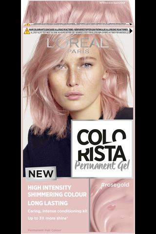 L'Oréal Paris Colorista Permanent Gel Rosegold kestoväri