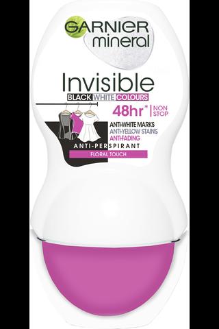 Garnier Mineral Deodorant 50ml Woman Invisible Black, White & Colors Roll-on