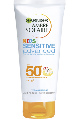 Garnier Ambre Solaire 200ml Kids Sensitive Advanced aurinkosuojaemulsio SK50+ herkälle iholle