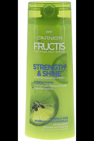 Garnier Fructis 250ml Strength & Shine shampoo normaaleille hiuksille
