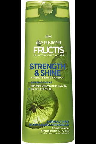 Garnier Fructis 400ml Strength & Shine shampoo normaaleille hiuksille