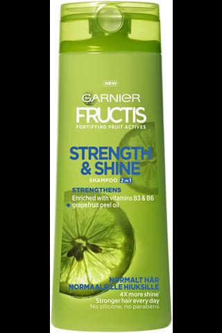 Garnier Fructis 400ml Strength & Shine 2in1 shampoo&hoitoaine normaaleille hiuksille