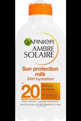 Garnier Ambre Solaire 200ml Sun Protection Milk aurinkosuojaemulsio SK20