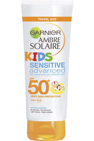 Garnier Ambre Solaire Sensitive Advanced Kids aurinkosuojaemulsio SK50+ 50ml