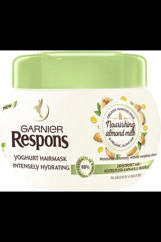 Garnier Respons 300ml Nourishing Almond Milk Yoghurt hiusnaamio kosteutusta kaipaaville hiuksille