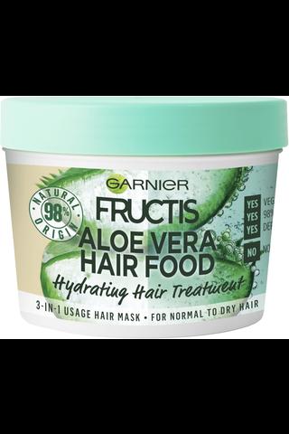Garnier Fructis Hair Food Aloe Vera hiusnaamio normaaleille ja kuiville hiuksille 390ml