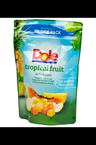 Dole 400/220g Trooppiset hedelmät, Ananas, papaija ja guava hedelmämehussa, pussi