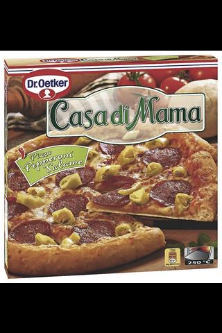 Dr. Oetker Casa di Mama Pepperoni-Salame pakastepizza 415 g