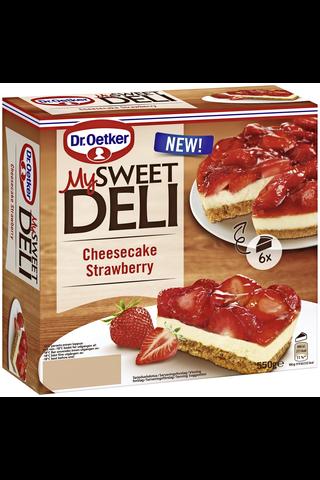 Dr. Oetker My Sweet Deli 550 g Cheesecake Strawberry pakastekakku