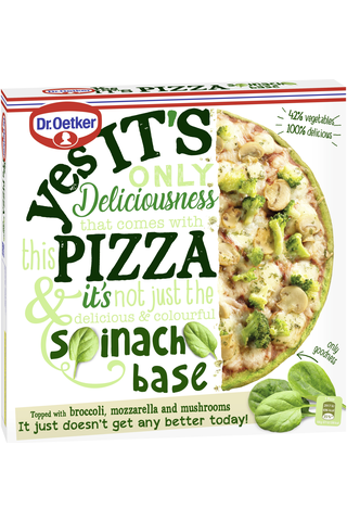 Dr. Oetker Yes its pizza Spinach Base pakastepizza 335g