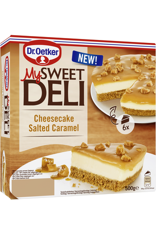 Dr. Oetker My Sweet Deli Cheesecake Salted Caramel pakastekakku 500g