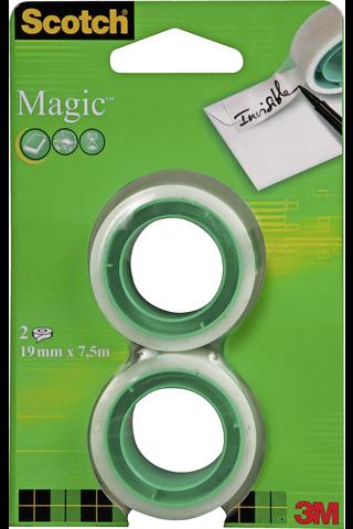 Scotch teippi Magic täyttörulla 19mm 7,5m 2-pack