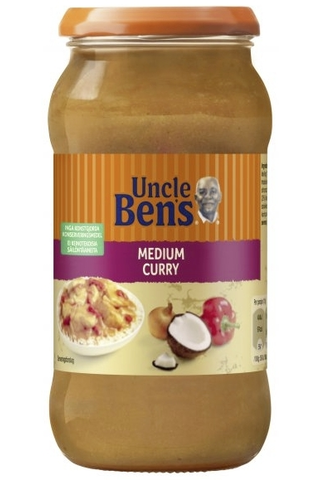 Uncle Ben's 440g Medium Curry, paprika- ja kookoshöysteinen currykastike