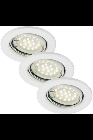 Briloner LED 3 x 3W GU10 upotettava alasvalosetti valkoinen kohdistettava