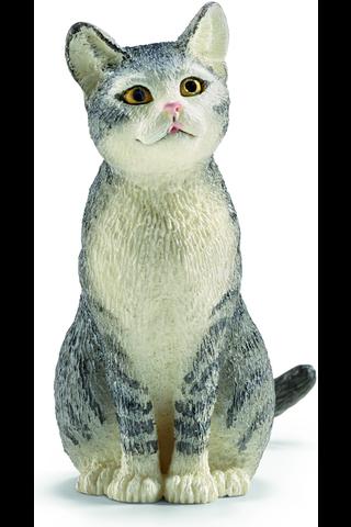 Schleich istuva kissa