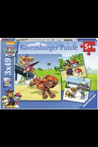 Ravensburger Paw Patrol palapeli 3x49 palaa