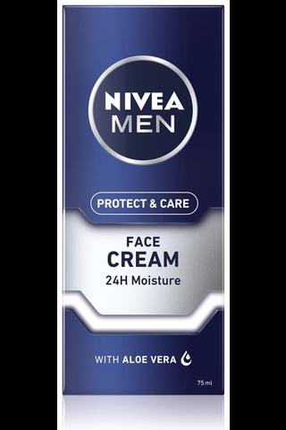 NIVEA MEN 75ml Protect & Care Moisturising Face Care Cream -kasvovoide