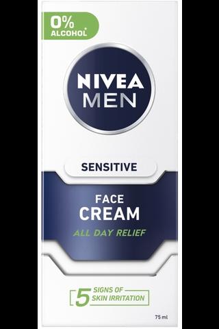 NIVEA MEN 75ml Sensitive Face Care Moisture Cream -kasvovoide