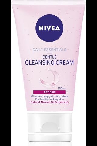 NIVEA 150ml Daily Essentials Gentle Cleansing Cream puhdistusvoide kuivalle iholle