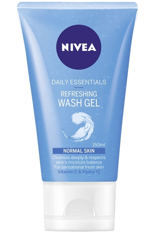 NIVEA 150ml Daily Essentials Refreshing Wash Gel puhdistusgeeli normaalille iholle