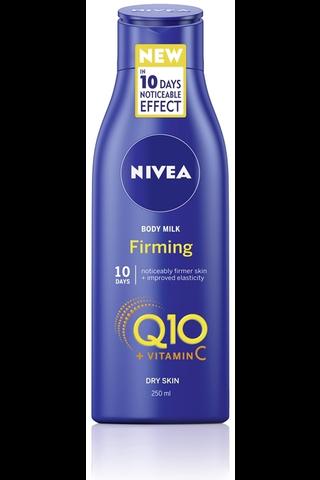 NIVEA 250ml Q10 + Vitamin C Firming Body Milk -vartaloemulsio kuivalle iholle