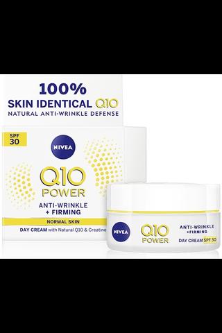 NIVEA 50ml Q10 POWER Anti-Wrinkle + Firming SPF 30 Day Cream -päivävoide