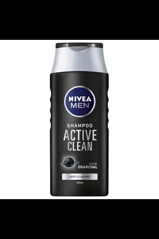 NIVEA MEN 250ml Active Clean -shampoo