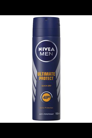 NIVEA MEN 150ml Ultimate Protect Deo Spray -antiperspirantti