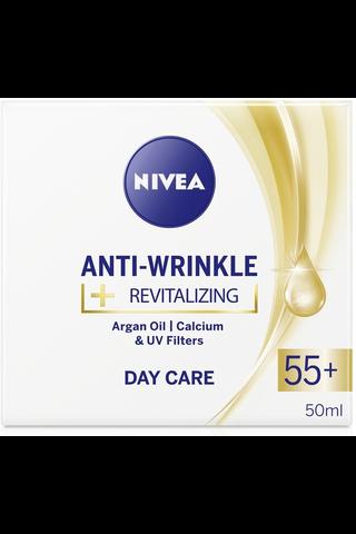 NIVEA 50ml Anti-Wrinkle + Revitalizing Day Care 55+ -päivävoide