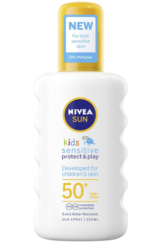 NIVEA SUN Kids 200ml Sensitive Protect & Play Sun Spray SK50+ -aurinkosuojasuihke