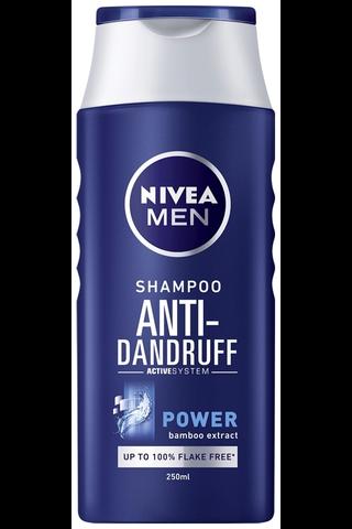 NIVEA MEN 250ml Anti-Dandruff Power -shampoo