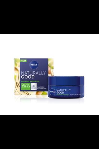 NIVEA 50ml Naturally Good Regenerating Night Cream -yövoide